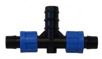 Фитинг BT011720, Тройник К/Л 16 мм х 20мм х К/Л 16 мм
